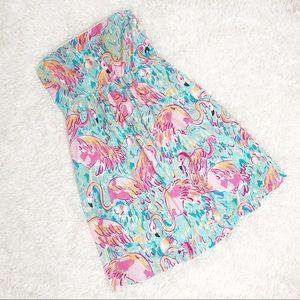 Lilly Pulitzer flamingo strapless dress 6